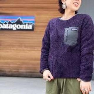 パタゴニア(patagonia)のpatagonia パタゴニア メンズ ロスガトスクルー XXS 紫 レディース(ニット/セーター)