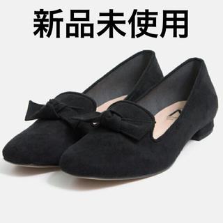 マミアン(MAMIAN)の未使用 MAMIAN スクエアトゥリボンオペラフラットシューズ(ローファー/革靴)