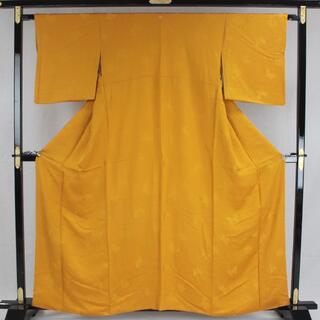 AC6155 色無地 161㎝ 京都一流料亭女将の着物 オレンジ系(着物)