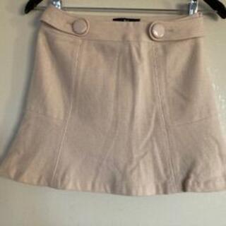 バービー(Barbie)のBarbie ミニスカート M 毛83% 白(ミニスカート)