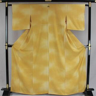 AC6161 色無地 168㎝ 京都一流料亭女将の着物 黄色系(着物)