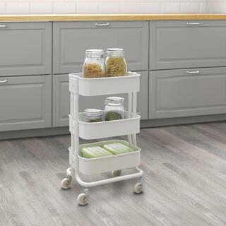 イケア(IKEA)のRÅSHULT ロースフルト ワゴン IKEA ホワイト(キッチン収納)