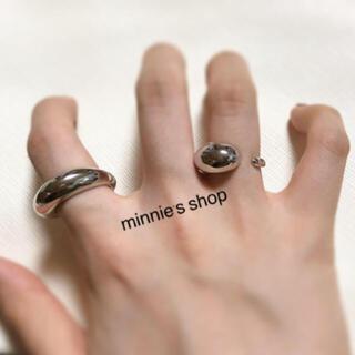 トゥデイフル(TODAYFUL)の*1点限定* ぷっくり デザインリング  シルバー(リング(指輪))