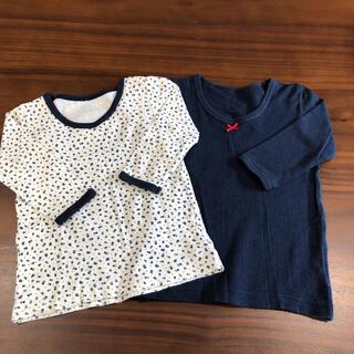 西松屋 - 中古品★長袖シャツ 女の子 80cm 2枚セット