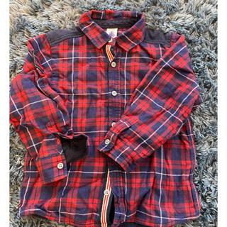 プチバトー(PETIT BATEAU)のプチバトー チェックシャツ 3ans(Tシャツ/カットソー)
