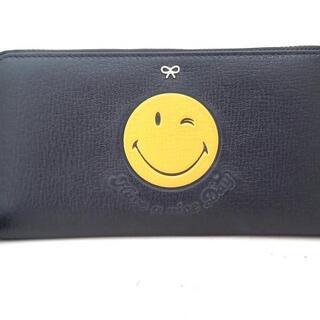 アニヤハインドマーチ(ANYA HINDMARCH)のアニヤハインドマーチ 長財布 黒×イエロー(財布)