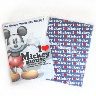 ミッキーマウス(ミッキーマウス)のミッキーマウス クリアファイル 2枚セット ロゴ 隠れミッキー ディズニー(クリアファイル)