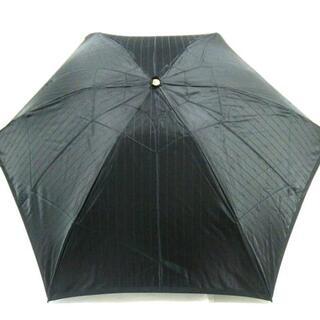 サンローラン(Saint Laurent)のイヴサンローラン 折りたたみ傘 - 黒(傘)