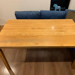 ムジルシリョウヒン(MUJI (無印良品))の無印良品 無垢材 ダイニングテーブル オーク材(ダイニングテーブル)