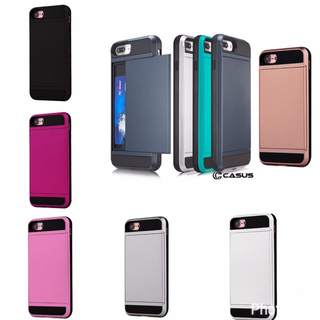 iPhone6/6S iPhone7 耐衝撃 カード収納付きケース   (iPhoneケース)
