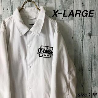 エクストララージ(XLARGE)のX−LARGE ビッグ刺繍ロゴ スナップボタン キャンバス コーチジャケット(ナイロンジャケット)