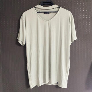 アベイル(Avail)のチョーカー風Tシャツ ミントグリーン 大きなサイズ(Tシャツ(半袖/袖なし))