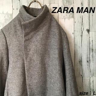 ザラ(ZARA)の美品 ZARA MAN デザインステンカラーコート(ステンカラーコート)
