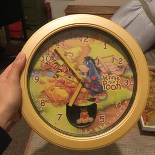 ディズニー(Disney)のプーさんの掛け時計 単三電池1個でOK(掛時計/柱時計)