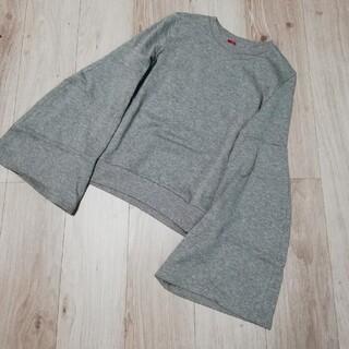 ダブルスタンダードクロージング(DOUBLE STANDARD CLOTHING)のDOUBLE STANDARD  ダブルスタンダード フレアスリーブ スウェット(トレーナー/スウェット)