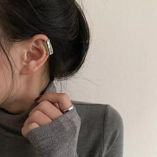 TODAYFUL - long ear cuff-silver-