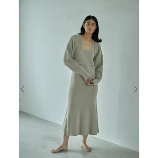 【市場完売】casa fline ショートカーデセットニットドレス (ロングワンピース/マキシワンピース)