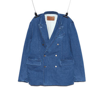 PEACEMINUSONE - PMO DENIM PADDED JACKET #1 BLUE