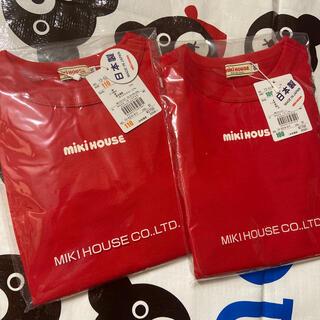 ミキハウス(mikihouse)のミキハウス♡110♡100♡二点♡ロゴ♡新品(Tシャツ/カットソー)