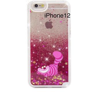 フシギノクニノアリス(ふしぎの国のアリス)の新品iPhone12 Disneyディズニーチシャ猫アリスグリッター(iPhoneケース)