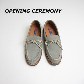 オープニングセレモニー(OPENING CEREMONY)の【SALE】 OPENING CEREMONY スウェード デッキローファー(スリッポン/モカシン)
