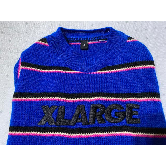 XLARGE(エクストララージ)のエクストララージ XLARGE ボーダー ニット S ブルー 青 黒 ピンク その他のペット用品(犬)の商品写真
