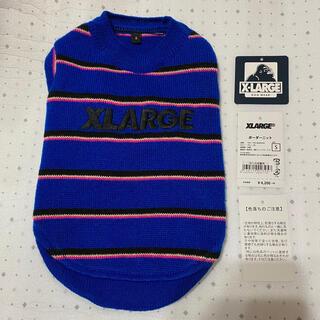 エクストララージ(XLARGE)のエクストララージ XLARGE ボーダー ニット S ブルー 青 黒 ピンク(犬)