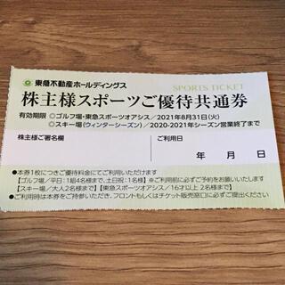 東急不動産 株主 スポーツ優待券 1枚 ニセコ ハンターマウンテン たんばら(スキー場)