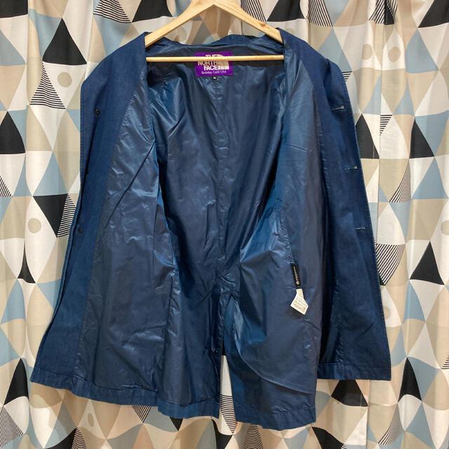 THE NORTH FACE(ザノースフェイス)のノースフェイス パープルレーベル デニムステンカラーコート インディゴ メンズのジャケット/アウター(ステンカラーコート)の商品写真