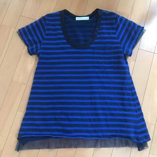 サカイラック(sacai luck)のサカイラック 美品 ボーダー カットソー  裏チュール レディース Tシャツ(カットソー(半袖/袖なし))