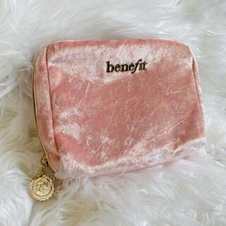 ベネフィット(Benefit)のBenefit ポーチ 大容量  ピンク スエード(ポーチ)