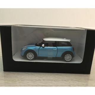ビーエムダブリュー(BMW)のミニクーパー エレクトリックブルー プルバックトイカー(ミニカー)
