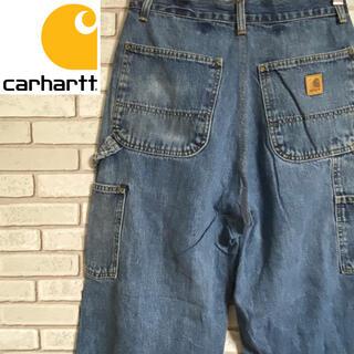 カーハート(carhartt)の90s 古着 カーハート メキシコ製 革タグ デニム ペインターパンツ(ペインターパンツ)