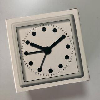 イデー(IDEE)のプラスマイナス0±ゼロ 置き時計グレー新品(置時計)