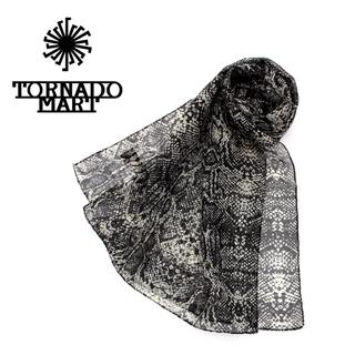 トルネードマート(TORNADO MART)の【新品】TORNADO MART ストール パイソン柄 イタリア製(ストール)