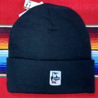 チャムス(CHUMS)の新品 CHUMS Knit Cap チャムス ニットキャップ ブラック(ニット帽/ビーニー)