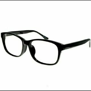 伊達メガネ 新品 デザイン お洒落 フレーム 送料 込み 商品 ブラック 黒縁(サングラス/メガネ)