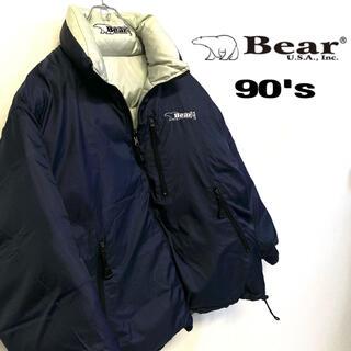 ベアー(Bear USA)の美品 Bear USA 肉厚 ダウンジャケット メンズM ネイビー(ダウンジャケット)