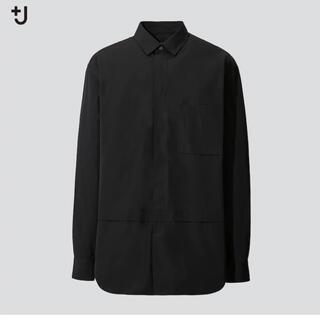 ジルサンダー(Jil Sander)のユニクロ ジルサンダー スーピマコットンオーバーサイズシャツ黒 M(シャツ)
