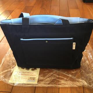 【新品・未使用】彩工房 尾道帆布 トートバッグ ネイビーx水色(トートバッグ)