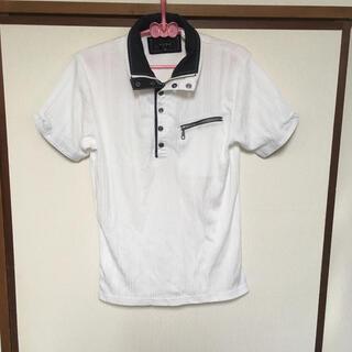 イン(YIN)のYin&Yang インアンドヤン ポロシャツ 白 ドット (ポロシャツ)