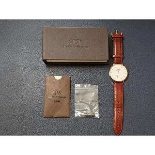 ダニエルウェリントン(Daniel Wellington)のダニエルウェリントン 腕時計 メンズ 40MM 革ベルト レザー ローズゴールド(腕時計(アナログ))