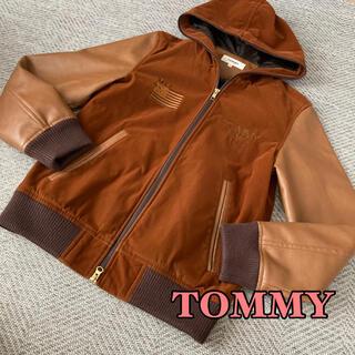 トミー(TOMMY)のTOMMY フード付きレザースタジャン 希少(スタジャン)