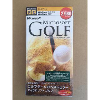 マイクロソフト(Microsoft)の【未開封】MICROSOFT GOLF 1998 EDITION(PCゲームソフト)