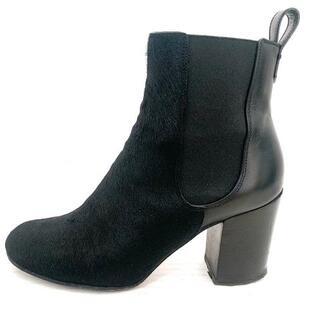 ジバンシィ(GIVENCHY)のジバンシー ショートブーツ 37 1/2 - 黒(ブーツ)