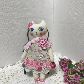 ミナペルホネン(mina perhonen)のミナペルホネン リバティ ラブリーナチュラル夢猫ちゃん 猫人形 猫ドール (人形)