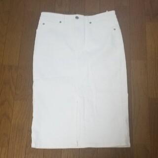 エディション(Edition)のサイズ38エディションホワイトデニムストレッチタイトスカート(ロングスカート)