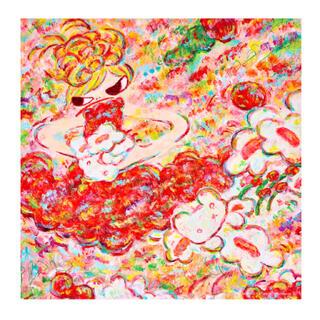 ロッカクアヤコ 魔法の手 大きなバンダナ 手ぬぐい(絵画/タペストリー)