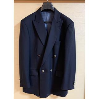 ジルサンダー(Jil Sander)のダブルブレストジャケット 濃紺 ウール100%(テーラードジャケット)