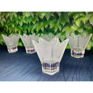 トウヨウササキガラス(東洋佐々木ガラス)の佐々木クリスタル 星形小鉢 ガラス小鉢 5点(食器)